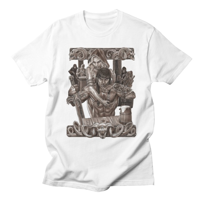 Barbarian Brew Men's Regular T-Shirt by Ayota Illustration Shop