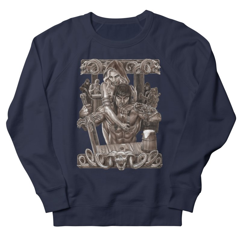 Barbarian Brew Women's French Terry Sweatshirt by Ayota Illustration Shop