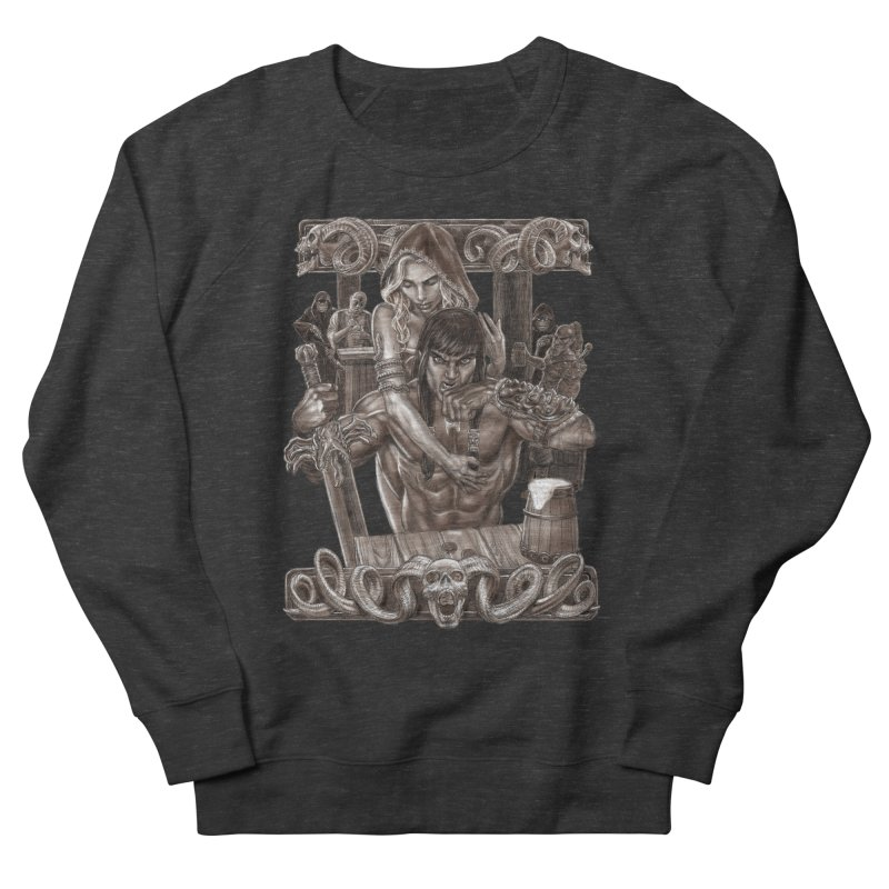 Barbarian Brew Men's French Terry Sweatshirt by Ayota Illustration Shop