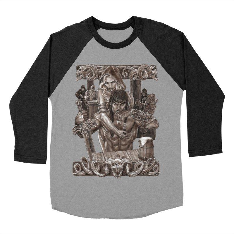 Barbarian Brew Men's Baseball Triblend T-Shirt by Ayota Illustration Shop