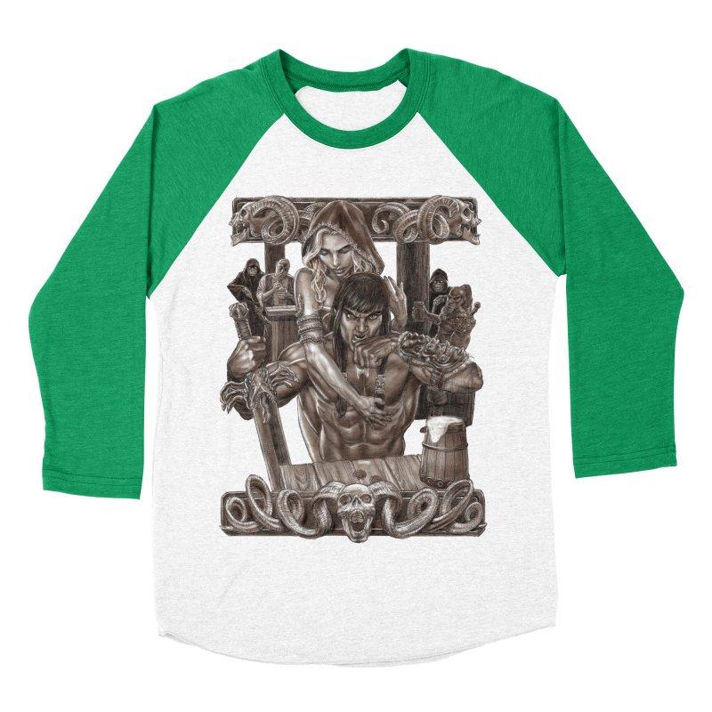Barbarian Brew Men's Baseball Triblend Longsleeve T-Shirt by Ayota Illustration Shop