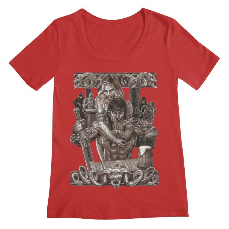 Barbarian Brew Women's Regular Scoop Neck by Ayota Illustration Shop