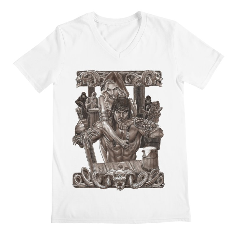 Barbarian Brew Men's Regular V-Neck by Ayota Illustration Shop