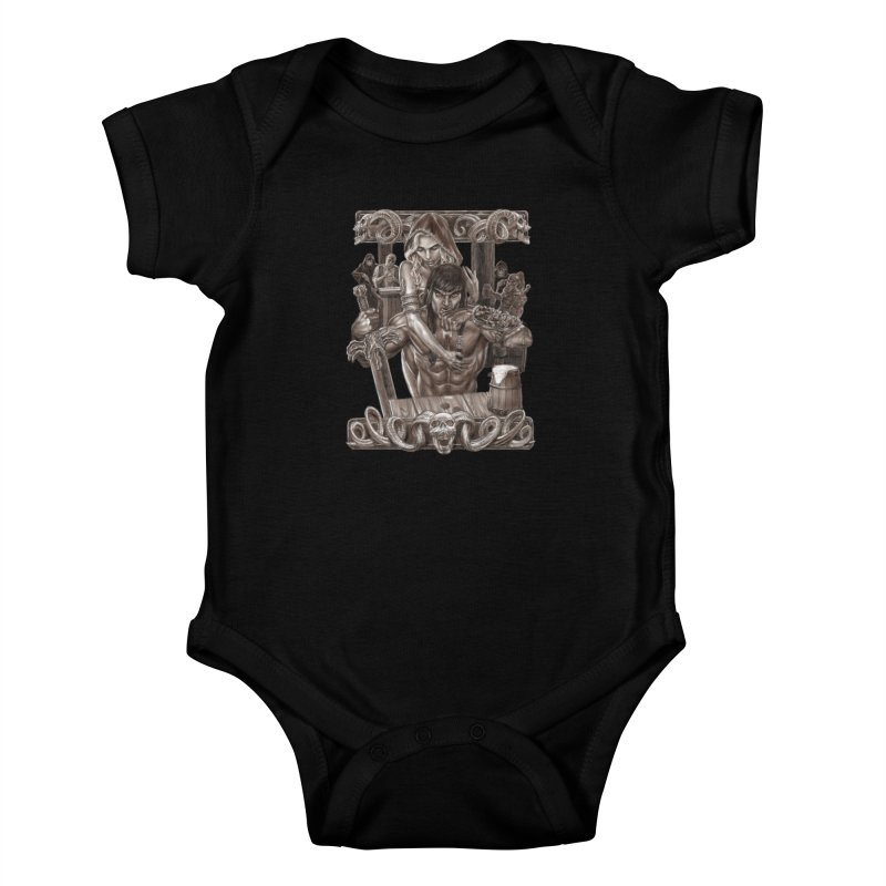 Barbarian Brew Kids Baby Bodysuit by Ayota Illustration Shop