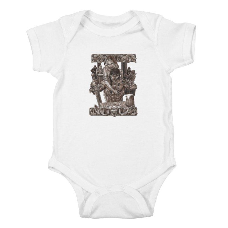 Barbarian Brew Kids Baby Bodysuit by Ayota Illustration Shop