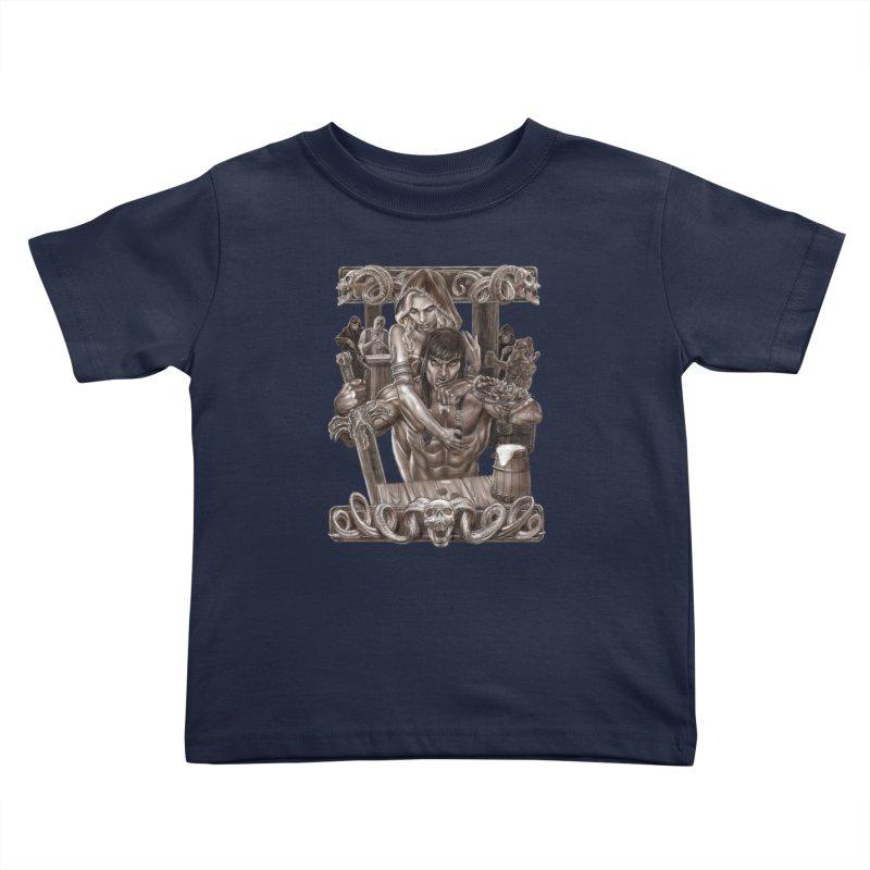 Barbarian Brew Kids Toddler T-Shirt by Ayota Illustration Shop