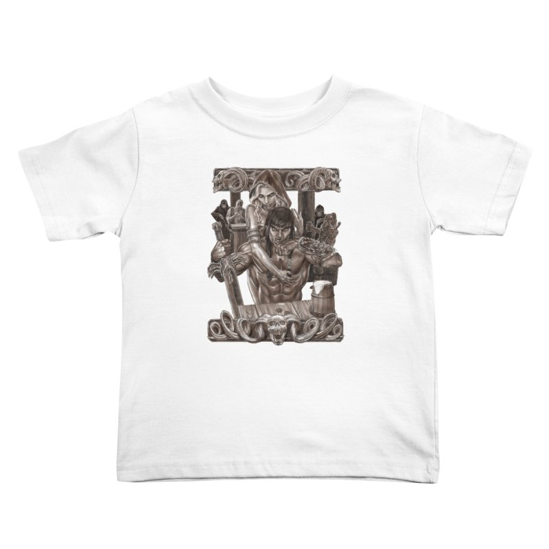 Barbarian Brew Kids Toddler T-Shirt by Ayota Illustration Shop