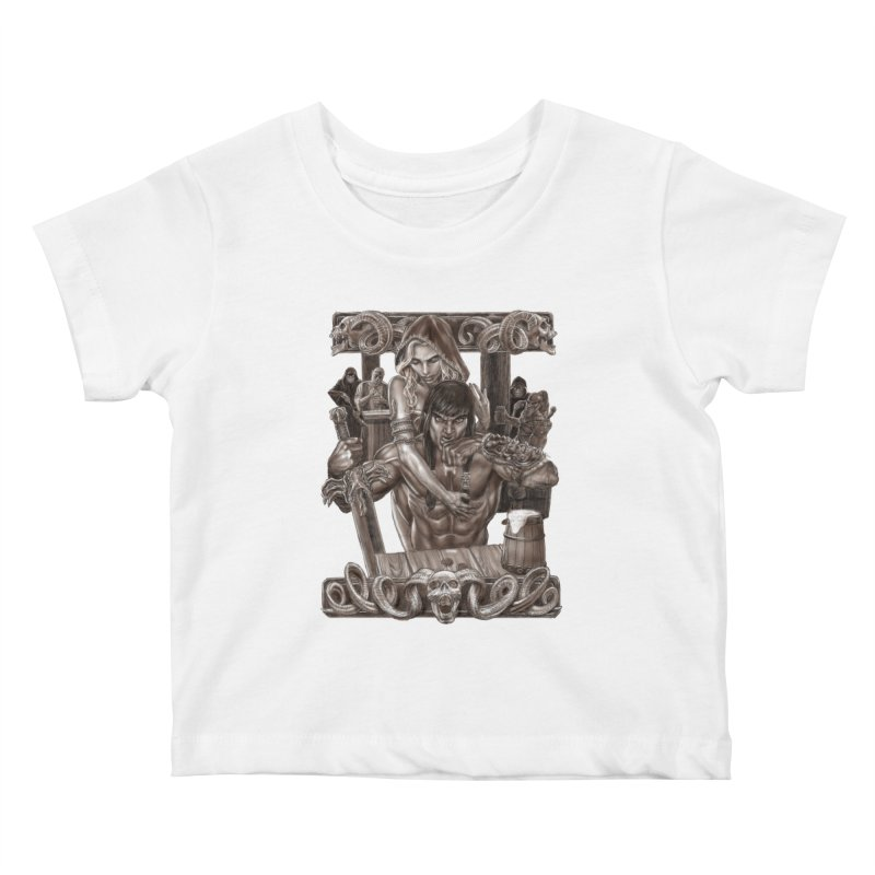 Barbarian Brew Kids Baby T-Shirt by Ayota Illustration Shop