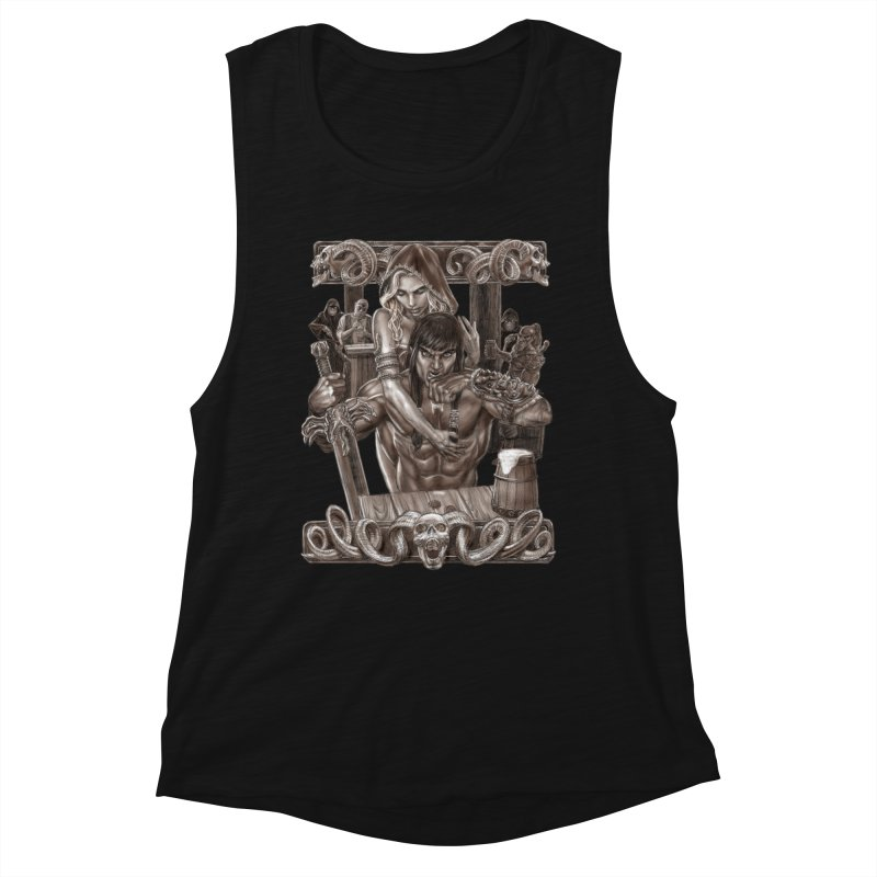 Barbarian Brew Women's Tank by Ayota Illustration Shop