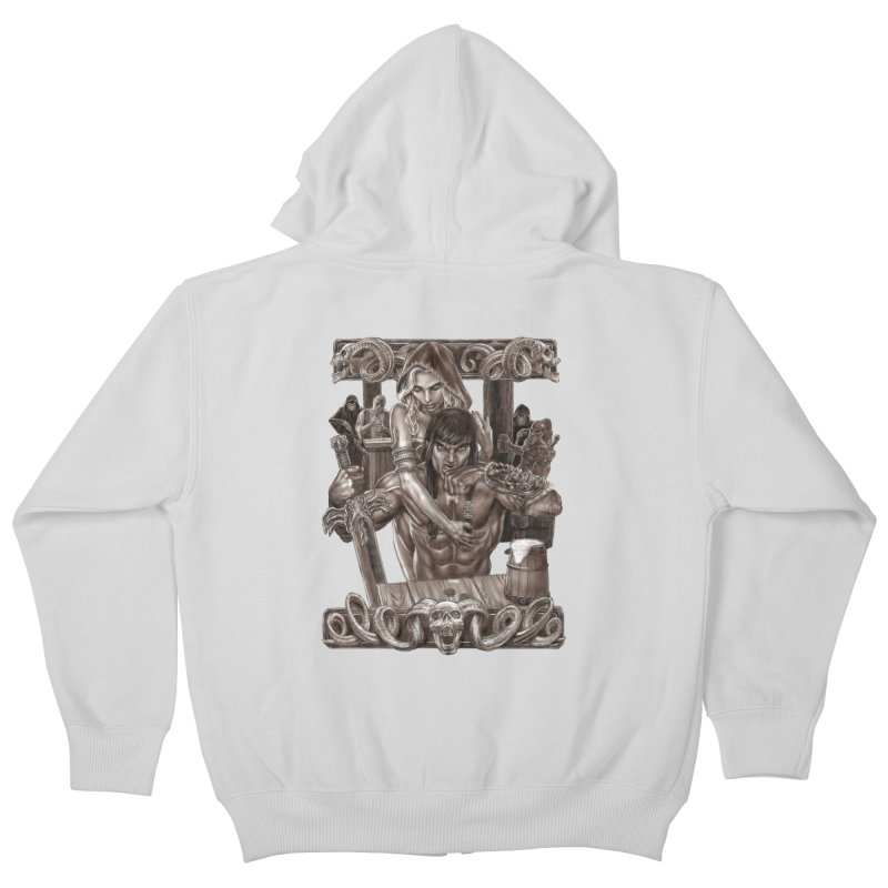 Barbarian Brew Kids Zip-Up Hoody by Ayota Illustration Shop