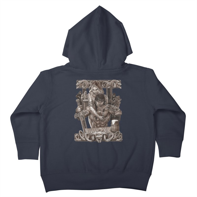 Barbarian Brew Kids Toddler Zip-Up Hoody by Ayota Illustration Shop