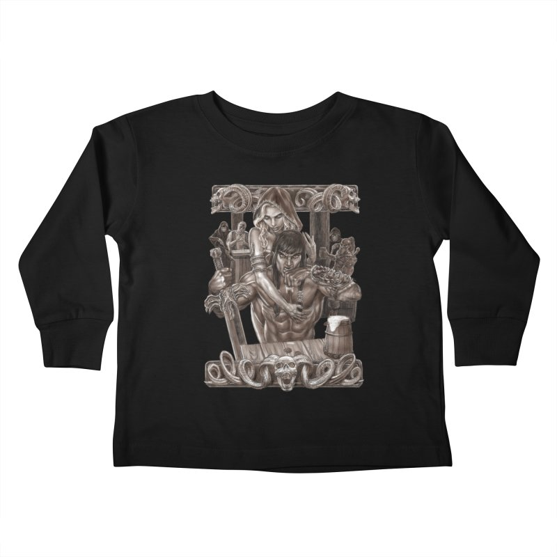 Barbarian Brew Kids Toddler Longsleeve T-Shirt by Ayota Illustration Shop