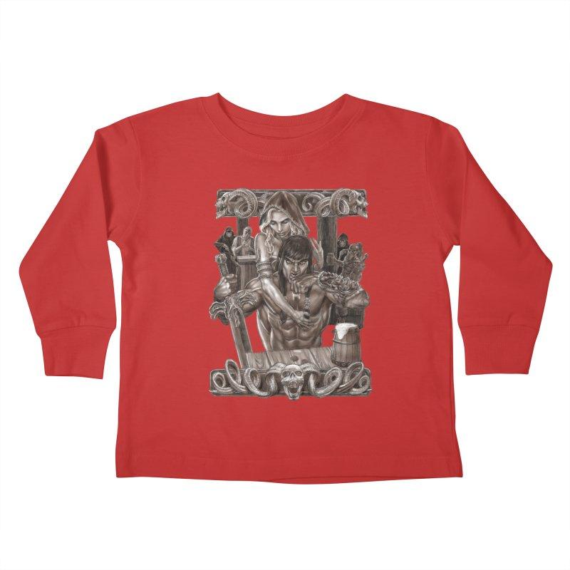 Barbarian Brew Kids Toddler Longsleeve T-Shirt by Ayota Illustration Shop