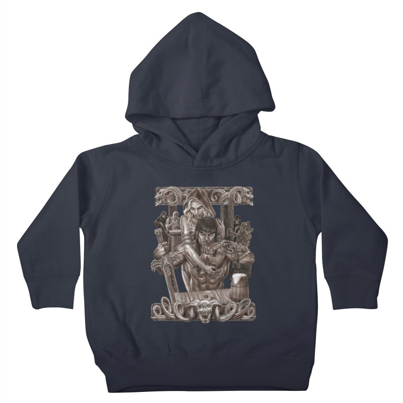 Barbarian Brew Kids Toddler Pullover Hoody by Ayota Illustration Shop