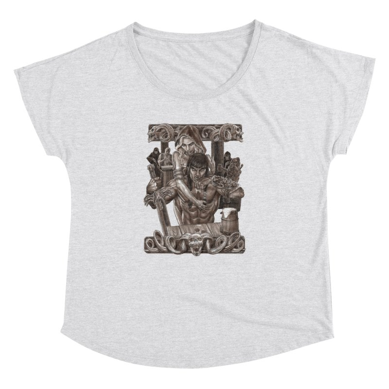Barbarian Brew Women's Dolman Scoop Neck by Ayota Illustration Shop