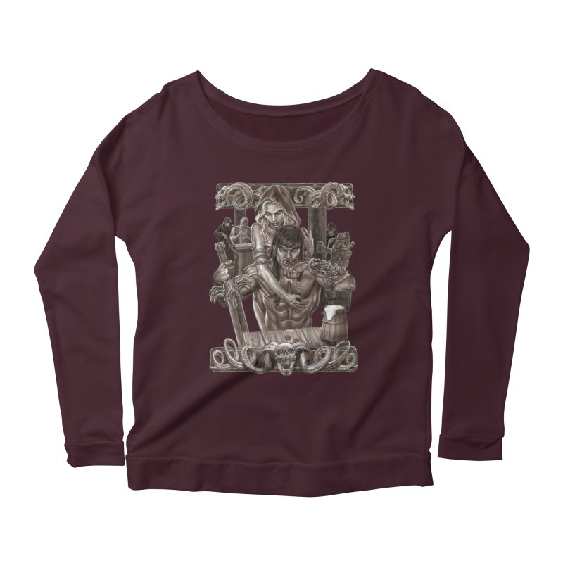 Barbarian Brew Women's Scoop Neck Longsleeve T-Shirt by Ayota Illustration Shop