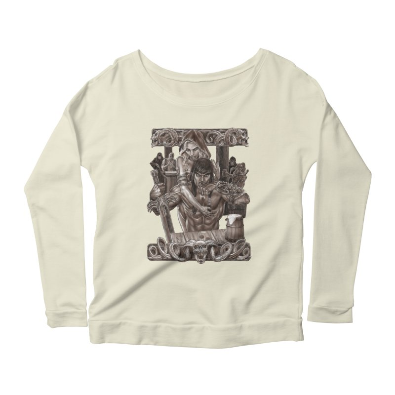 Barbarian Brew Women's Longsleeve Scoopneck  by Ayota Illustration Shop