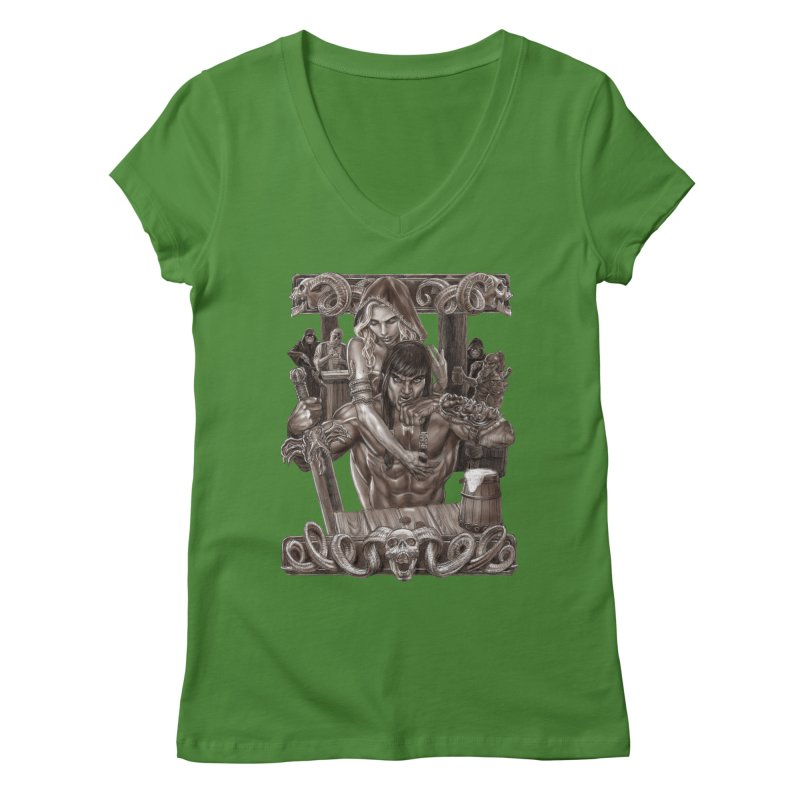 Barbarian Brew Women's V-Neck by Ayota Illustration Shop