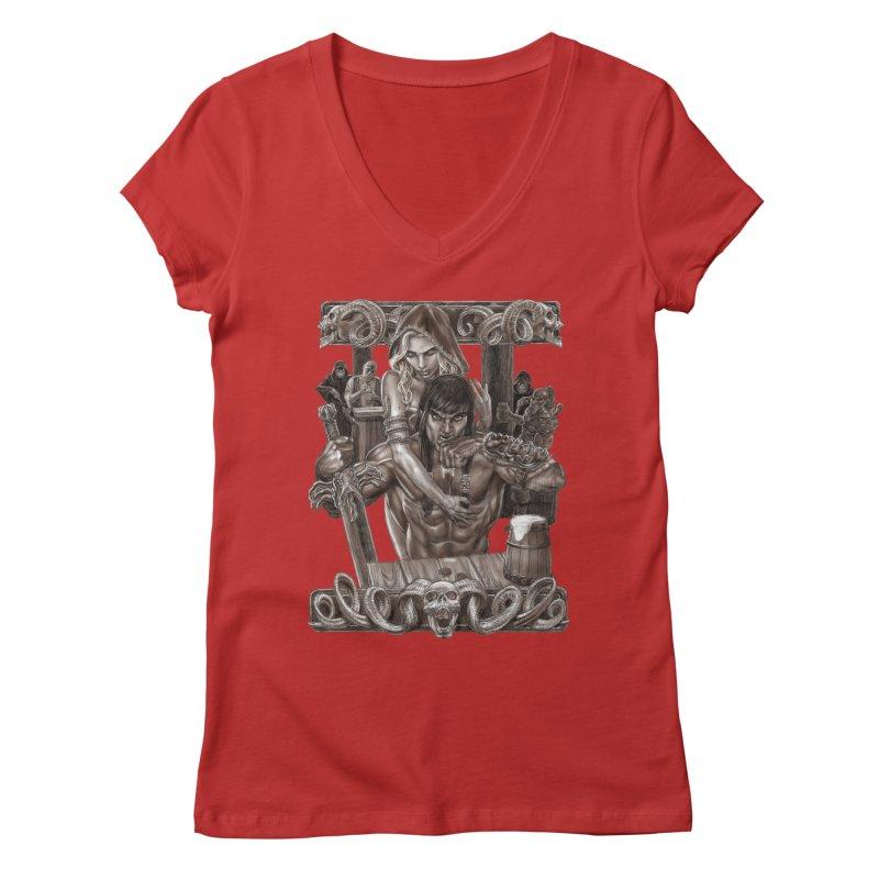 Barbarian Brew Women's V-Neck by Ayota Illustration Shop