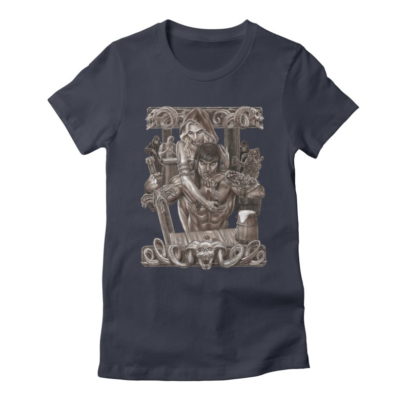 Barbarian Brew Women's Fitted T-Shirt by Ayota Illustration Shop
