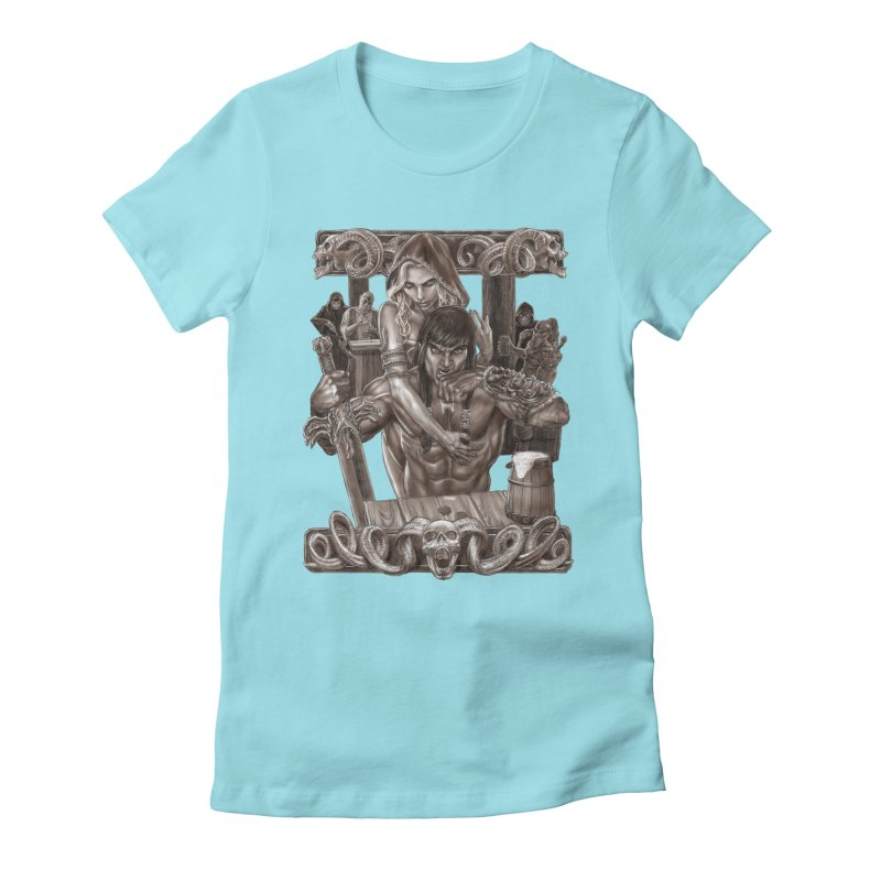 Barbarian Brew Women's T-Shirt by Ayota Illustration Shop