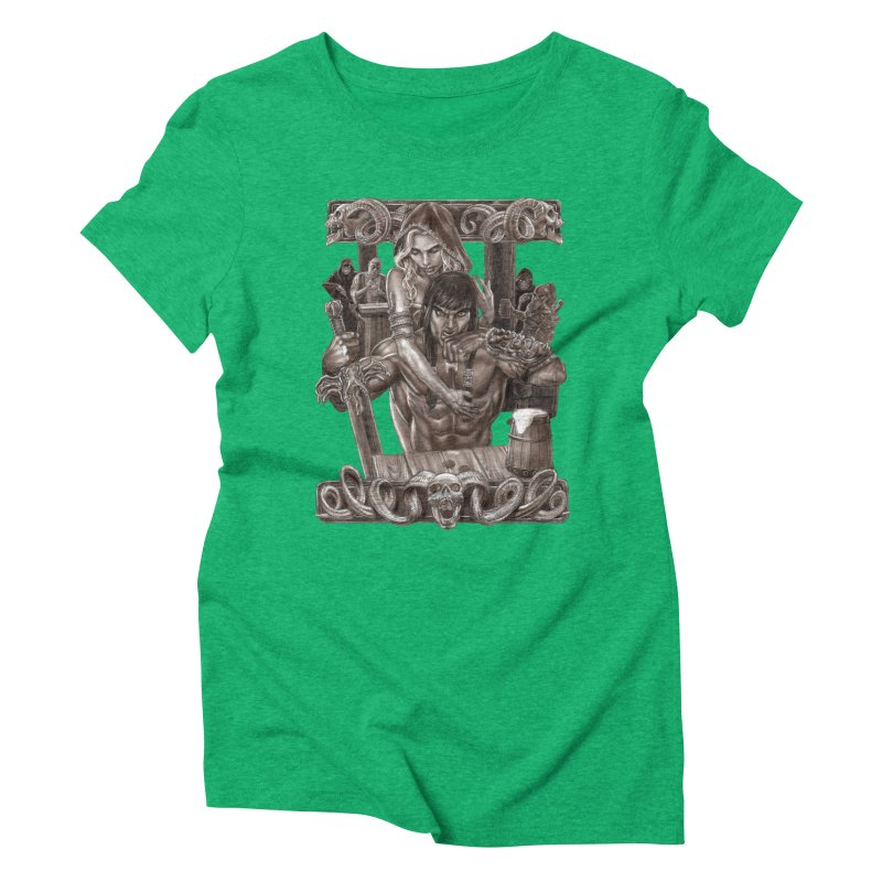 Barbarian Brew Women's Triblend T-Shirt by Ayota Illustration Shop
