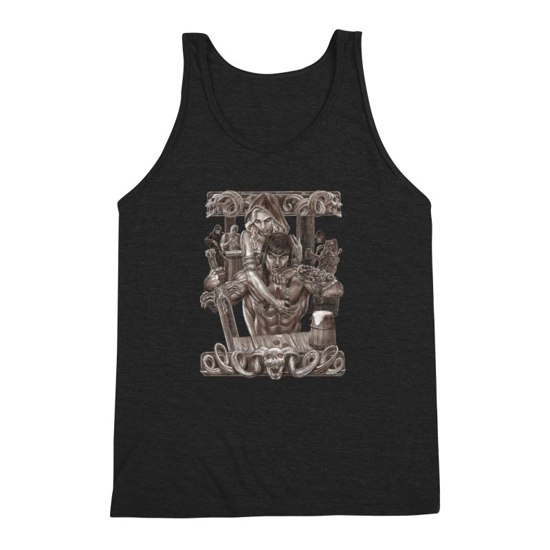 Barbarian Brew Men's Triblend Tank by Ayota Illustration Shop