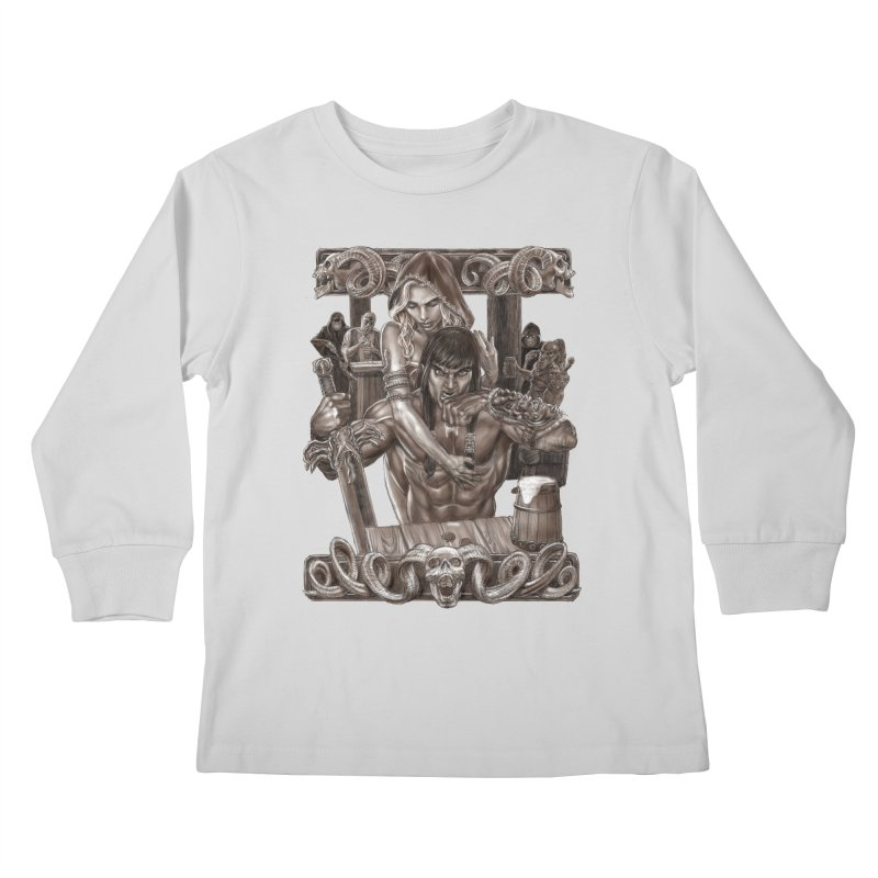 Barbarian Brew Kids Longsleeve T-Shirt by Ayota Illustration Shop
