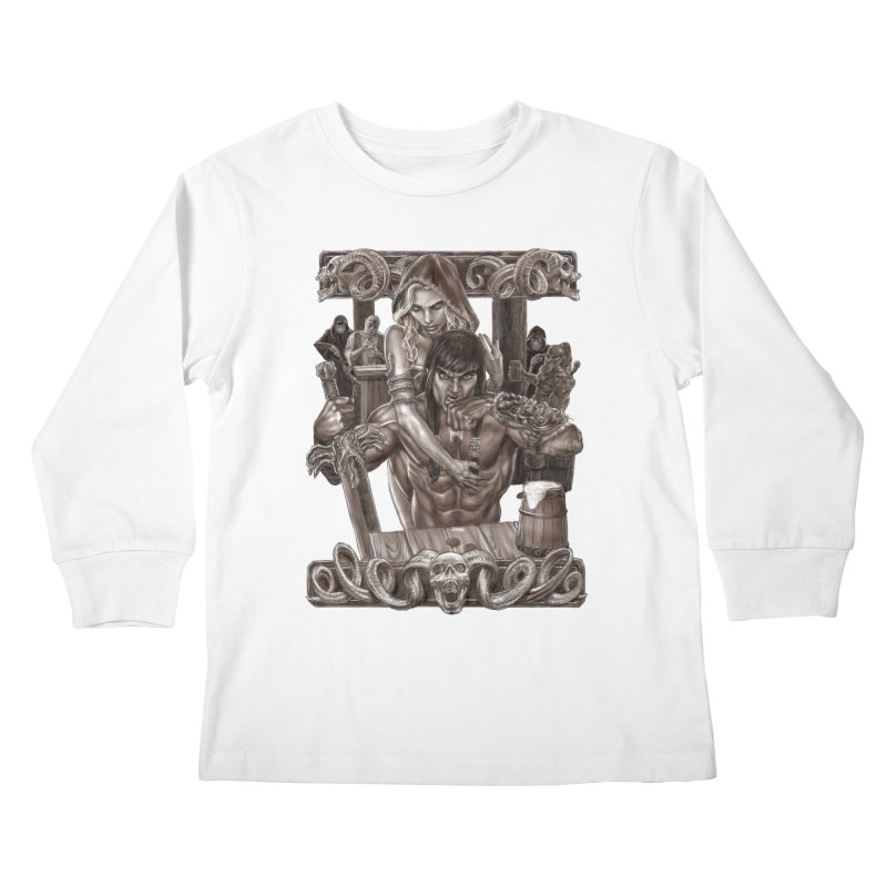 Barbarian Brew Kids Longsleeve T-Shirt by Ayota Illustration Shop