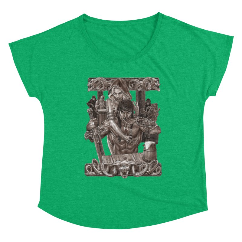 Barbarian Brew Women's Scoop Neck by Ayota Illustration Shop