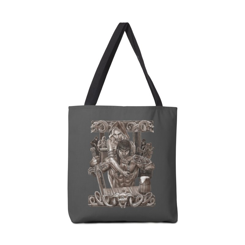 Barbarian Brew Accessories Tote Bag Bag by Ayota Illustration Shop