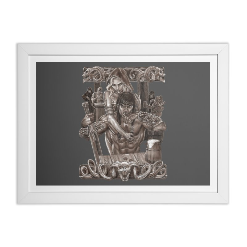 Barbarian Brew Home Framed Fine Art Print by Ayota Illustration Shop