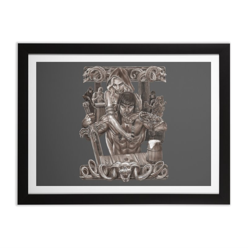 Barbarian Brew Home Framed Fine Art Print by Ayota Illustration Shop