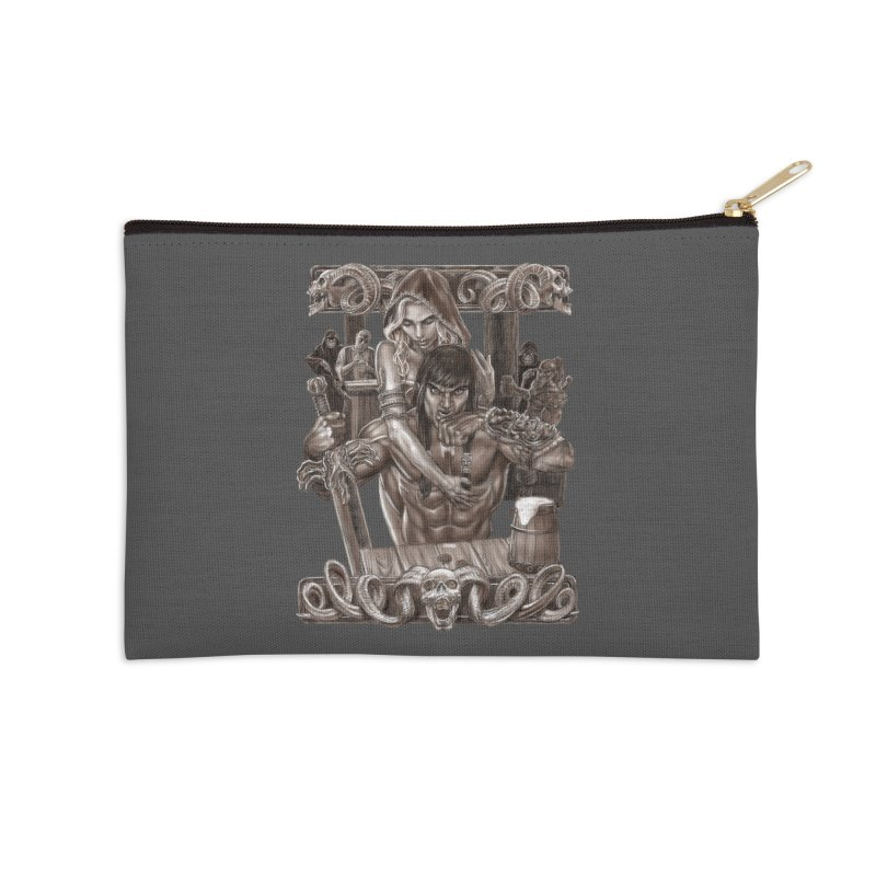 Barbarian Brew Accessories Zip Pouch by Ayota Illustration Shop