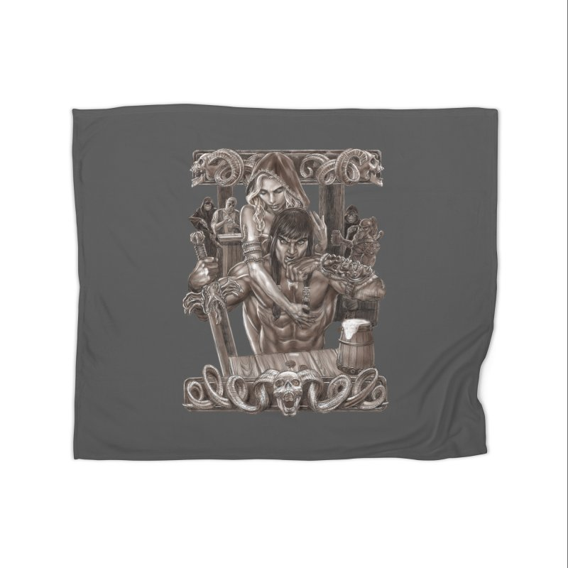 Barbarian Brew Home Blanket by Ayota Illustration Shop