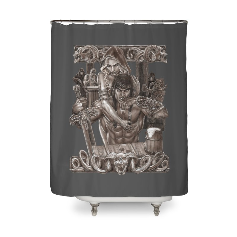 Barbarian Brew Home Shower Curtain by Ayota Illustration Shop