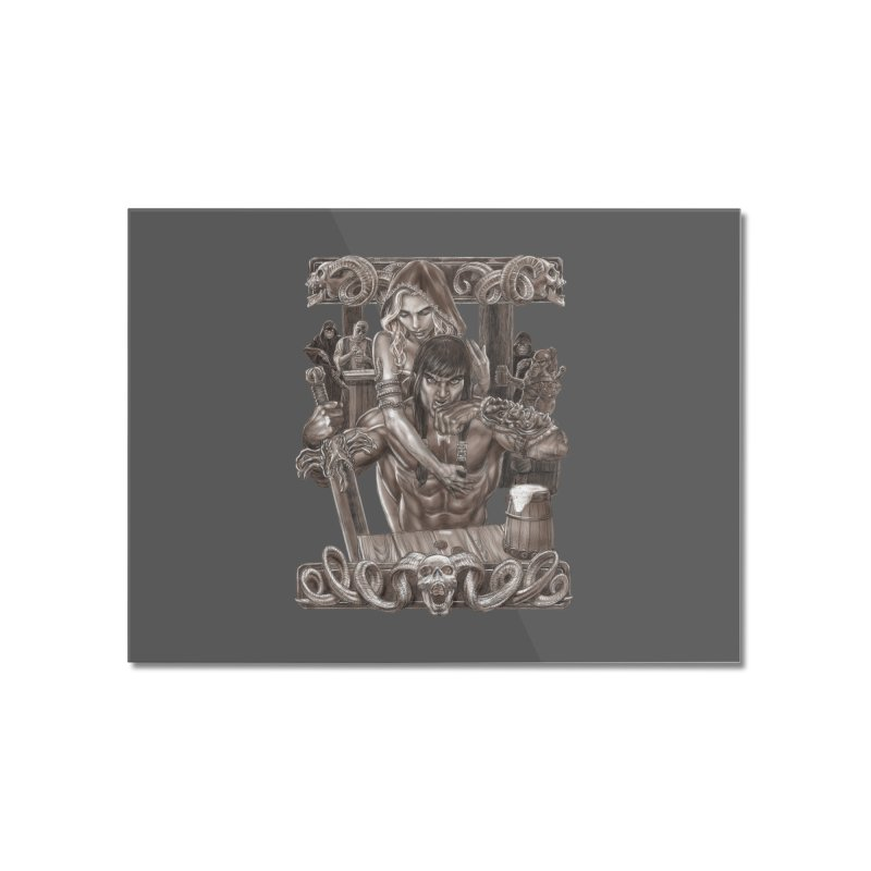 Barbarian Brew Home Mounted Acrylic Print by Ayota Illustration Shop