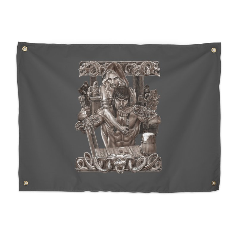 Barbarian Brew Home Tapestry by Ayota Illustration Shop