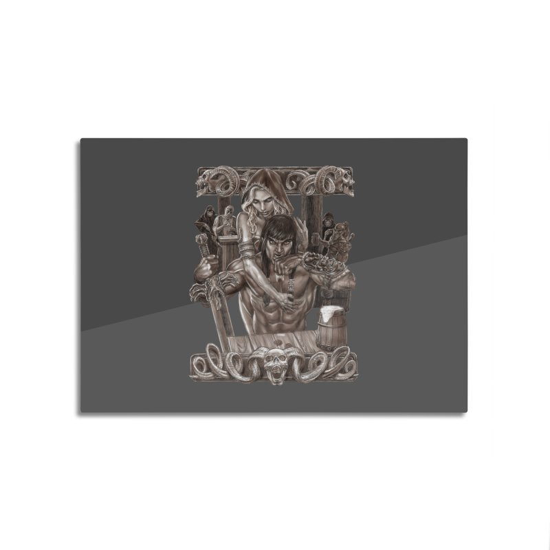 Barbarian Brew Home Mounted Aluminum Print by Ayota Illustration Shop