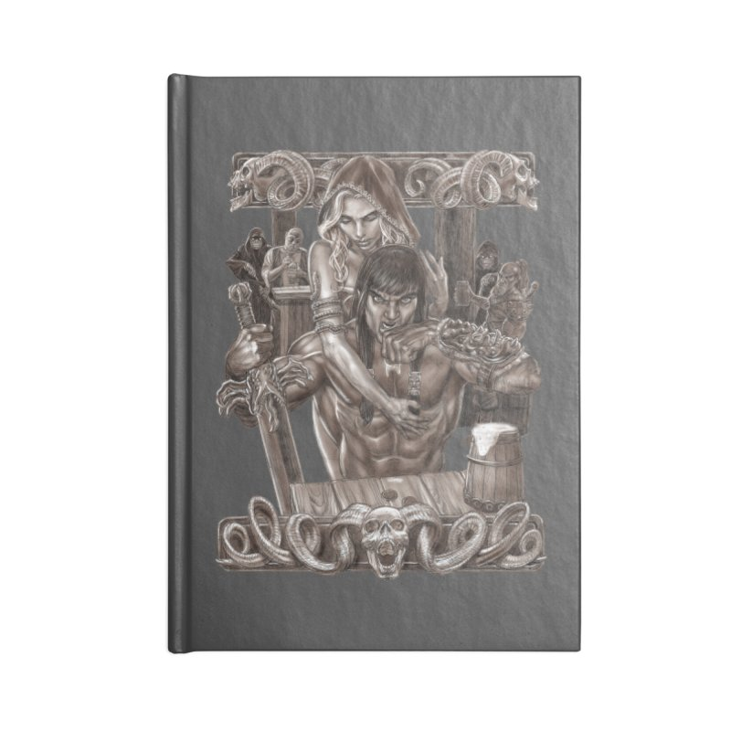 Barbarian Brew Accessories Lined Journal Notebook by Ayota Illustration Shop