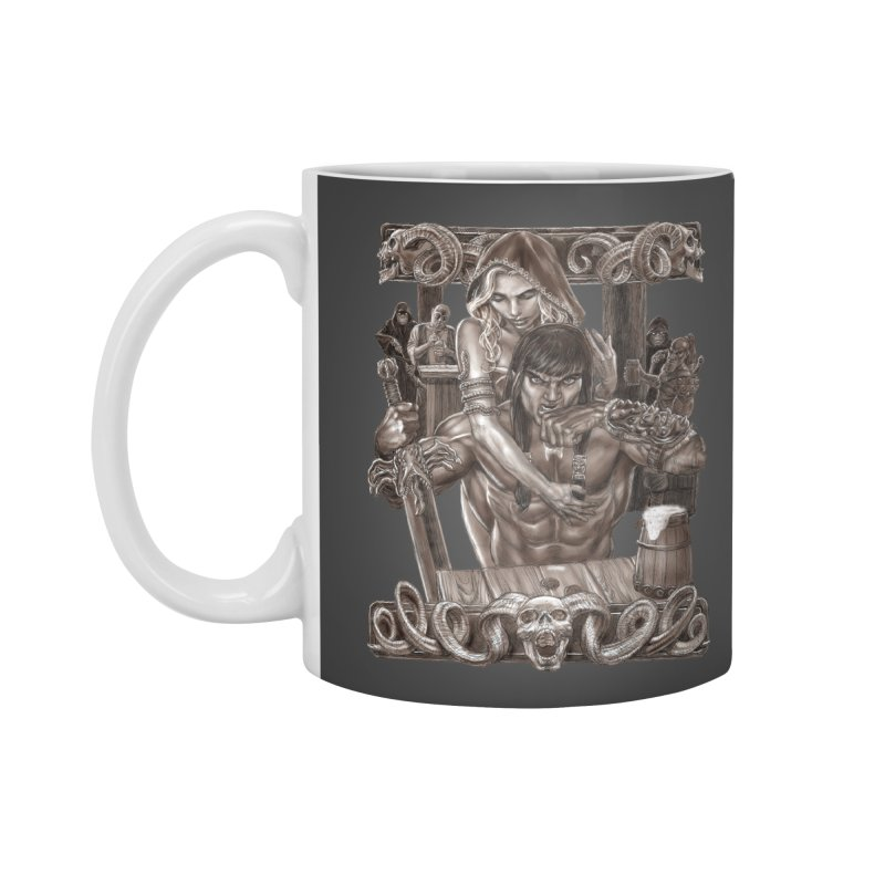 Barbarian Brew Accessories Mug by Ayota Illustration Shop