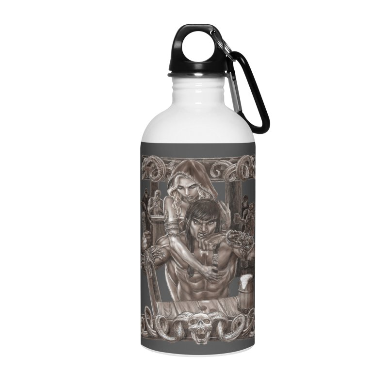 Barbarian Brew Accessories Water Bottle by Ayota Illustration Shop