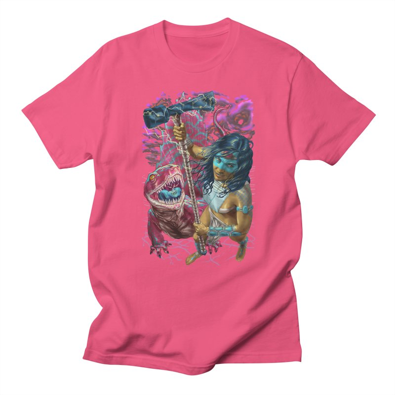 Dimetrodon Warrior Goddess Men's T-Shirt by Ayota Illustration Shop