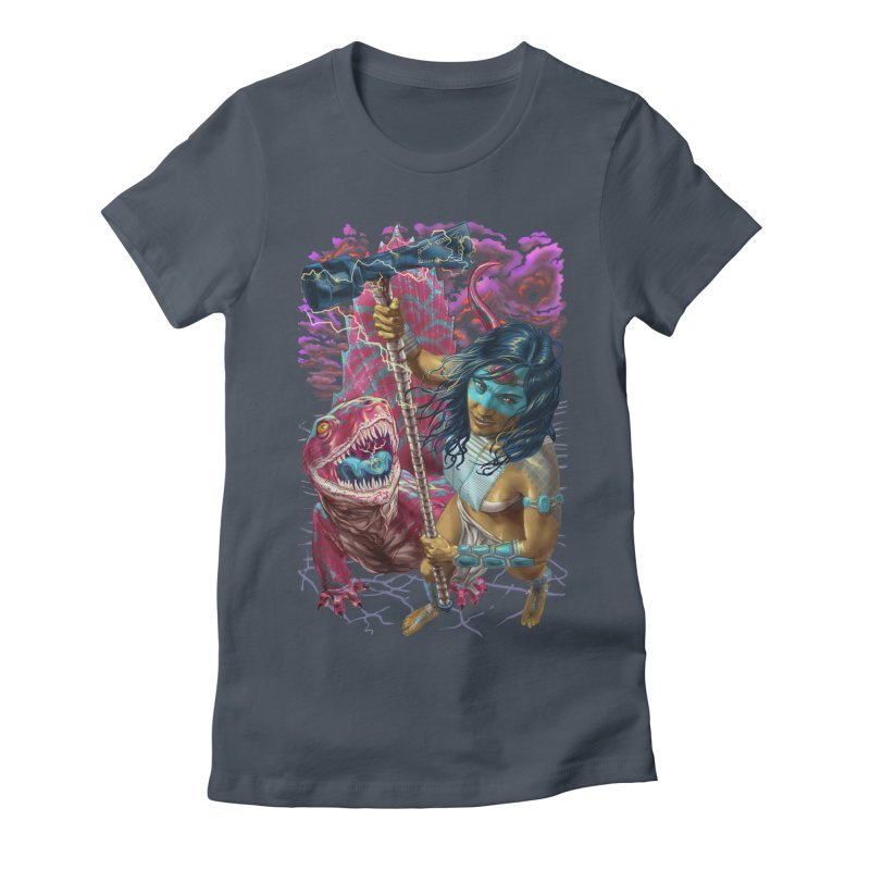 Dimetrodon Warrior Goddess Women's T-Shirt by Ayota Illustration Shop