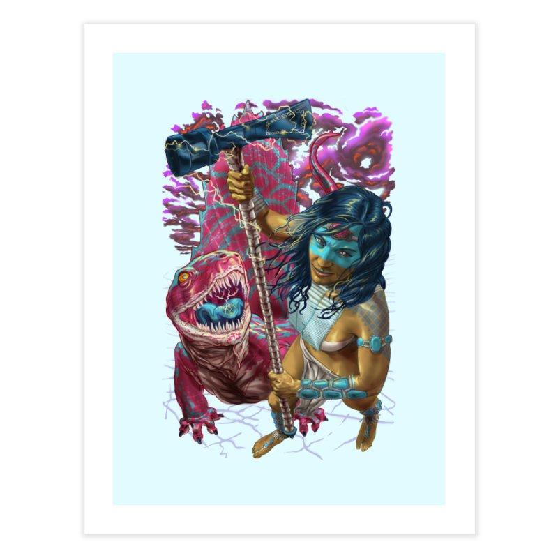 Dimetrodon Warrior Goddess Home Fine Art Print by Ayota Illustration Shop
