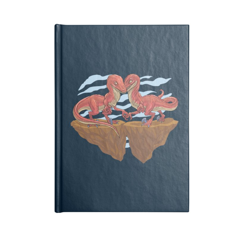 Velociraptors in Love Accessories Blank Journal Notebook by Ayota Illustration Shop