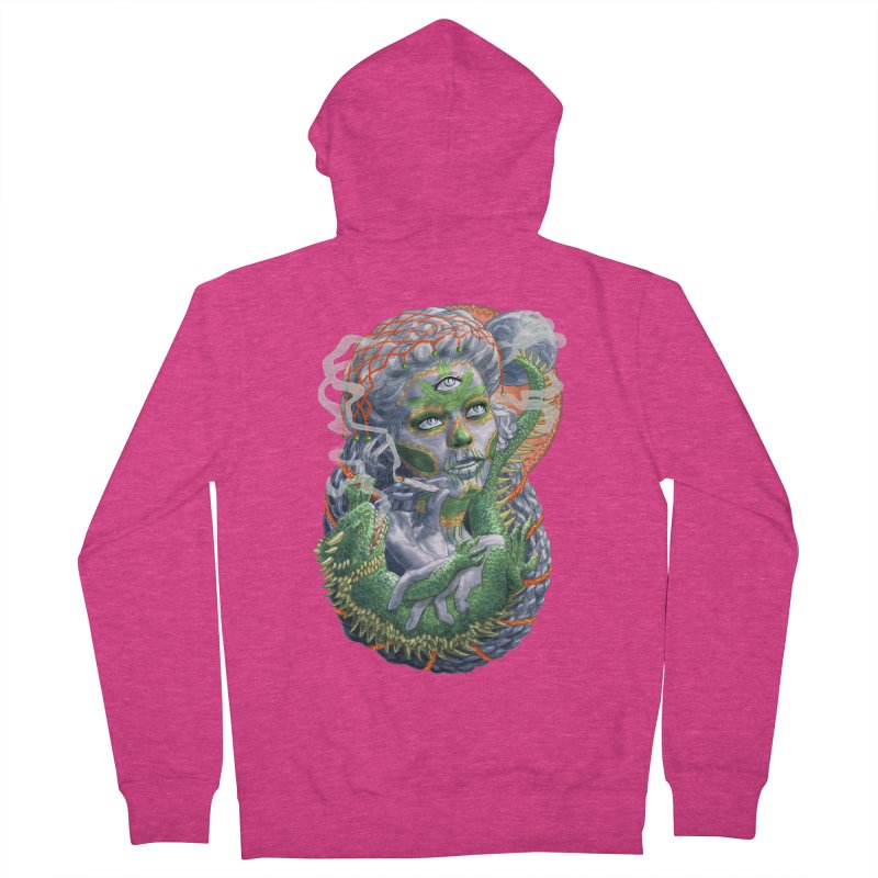 Mary Jane Catrina Women's French Terry Zip-Up Hoody by Ayota Illustration Shop