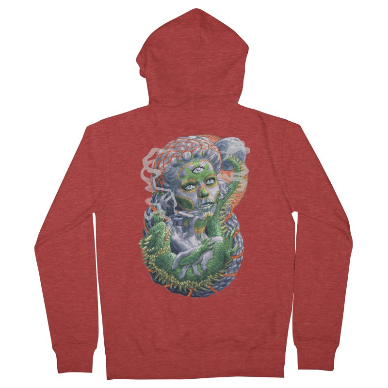 Mary Jane Catrina Men's French Terry Zip-Up Hoody by Ayota Illustration Shop