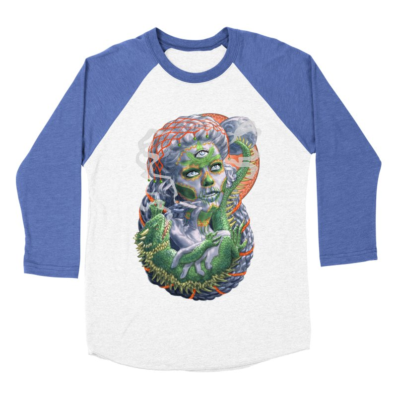 Mary Jane Catrina Men's Baseball Triblend Longsleeve T-Shirt by Ayota Illustration Shop