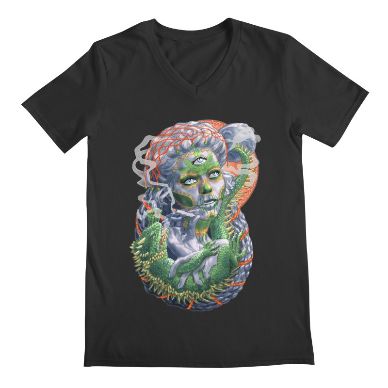 Mary Jane Catrina Men's Regular V-Neck by Ayota Illustration Shop